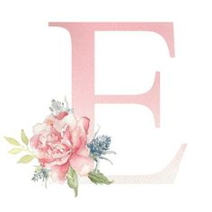 Your place to buy and sell all things handmade Floral Watercolor Letters Frame Floral, Flower Frame, Dont Touch My Phone Wallpapers, Cute Wallpapers, Watercolor Lettering, Watercolor Print, Pencil Drawings Tumblr, Emoji Wallpaper Iphone, Monogram Wallpaper