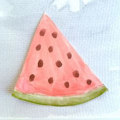 Here's some watermelon. I miss summer a lot.