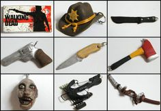 Polymer clay Walking Dead miniatures by TessaWorkshop on Etsy