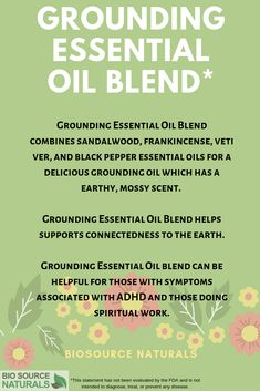 Grounding Essential Oil Blend may be a helpful natural aid for those experiencing ADD or ADHD symptoms.Also, Grounding Essential Oil Blend can be helpful for those who are experiencing a spiritual awakening or transformation.Grounding can help aid airy or flighty personalities make rational decisions.Useful prior to meditation or healing work.  #aromatherapy #essentialoil #ADHD Essential Oils For Memory, Grounding Essential Oil, Diluting Essential Oils, Essential Oil Blends, Black Pepper Oil, Black Pepper Essential Oil, Adhd Symptoms, Doterra Oils, Spiritual Awakening