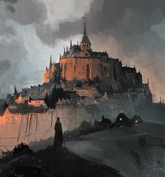 Gormenghast sketch Mont St Michel-style by ianmcque