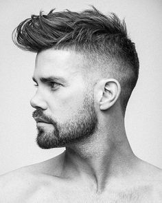 65 Amazing High Fade Haircuts For Men // High And Tight Haircut, High Fade Haircut, Cool Haircuts, Haircuts For Men, Men's Haircuts, Modern Hairstyles, Cool Hairstyles, Hair And Beard Styles, Short Hair Styles