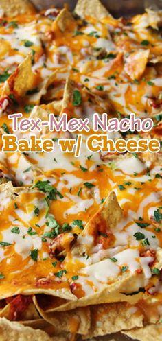 Tex-Mex Nacho Bake with Cheese