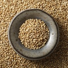 Toasted Sesame Seeds  Toasted Sesame Seeds: have a richer, nuttier flavor than raw seeds, and a slightly more golden color. They add a delicate crunch to numerous dishes and baked goods.  $4.00