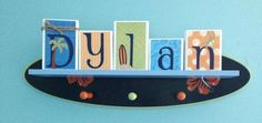 Surfs Up . Trend Lab Baby Name Block Letters . by auntjjsattic, $8.00