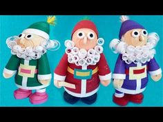 Paper quilling | how to make 3D Quilling Santa - Happy Merry Christmas Special Tutorial - YouTube