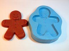 Boneco Biscoito, sabonete artesanal, molde de silicone, arte de modelar, molde…