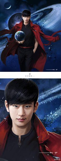 Kim Soo Hyun   Do Min Joon Man From The Stars drama   fanart