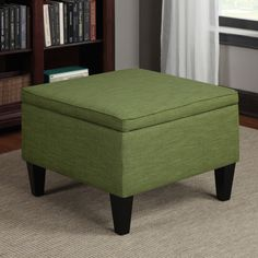 Portfolio Engle Apple Green Linen Table Storage Ottoman - Overstock Shopping - Great Deals on PORTFOLIO Ottomans