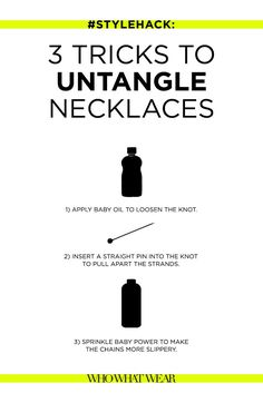 #StyleHack: 3 Easy Tricks to Untangle Necklaces via @WhoWhatWear