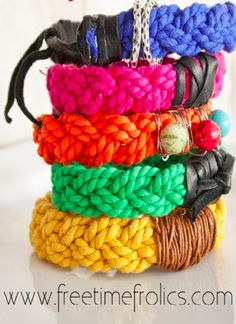 Weave up some stellar woven bracelets for a naturally colorful look!