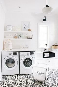 9 Tips For Styling Classy And Chic White Rooms Laundry Room LightingLaundry