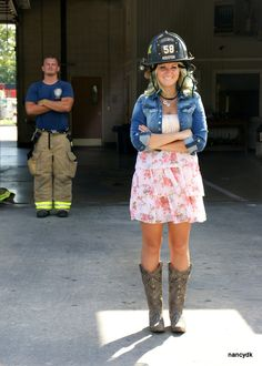 Fire Department Couples Photo Shoot
