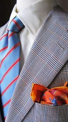 Brioni. Pocket square sets it off