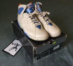 finest selection 564a4 82215 Nike Air Jordan VII 7 Retro Pearl White Ceramic-Pacific Blue 304775-281 SZ  9.5   eBay