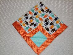 Owl in Aqua and Orange Ships in 1-3 Business by tarascozycreations