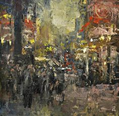 China Town. Oil on canvas Colin Merrin 2015