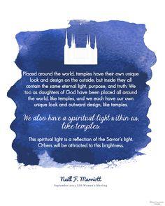 Spiritual Brightness Neill F. Marriott Free Printable from BitsyCreations Women's Meeting September 2014 #WomensMeeting #ldsconf
