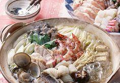 Fondue japonaise aux fruits de mer et konjacIngr