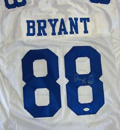 Dez Bryant Autographed Dallas Cowboys Jersey JSA . $139.00. This is a Dallas Cowboys jersey that has been hand signed by Dez Bryant. It has been authenticated by JSA and comes with their sticker and matching Certificate of Authenticity.
