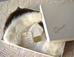Vintage Mink Collars Blond And Brown Fur Collars Original Box
