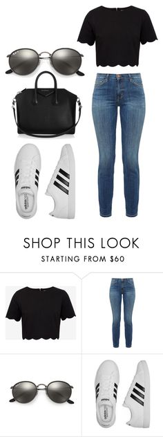 """My Eveyday"" by prettyoptimistic ❤ liked on Polyvore featuring Ted Baker, Current/Elliott, Ray-Ban, adidas and Givenchy"