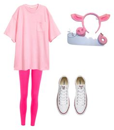 """""""Halloween costume three little pigs"""" by pinkythefashionista12 on Polyvore featuring adidas and Converse"""