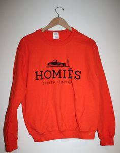 Brian Lichtenberg Homies South Central Orange and Black Sweatshirt Top Gildan S #Gildan #SweatshirtCrew