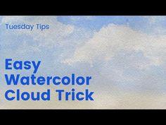Watercolor Clouds, Watercolor Tips, Watercolor Tutorials, Watercolor Painting Tutorials
