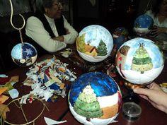 Escuela Taller León Viejo: esferas navideñas