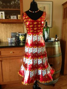 Jelly Belly wrapper dress thanks to Candyality