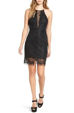 ASTR Illusion Lace Body-Con Minidress available at #Nordstrom
