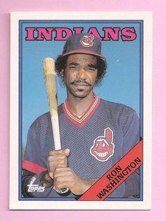 Ron Washington - 1988 Topps Baseball ~ Cleveland Indians ~  Card #125T #ClevelandIndians