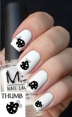Lady Bug Nail Decal by DesignerNails on Etsy, $3.95