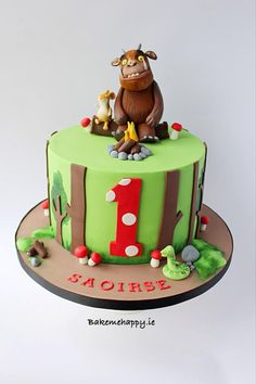 Gruffalo cake by Elaine Boyle. Second Birthday Cakes, Birthday Ideas, Baby Birthday, Gruffalo Party, Jungle Cake, Ice Cake, Novelty Cakes, Cake Creations, Celebration Cakes