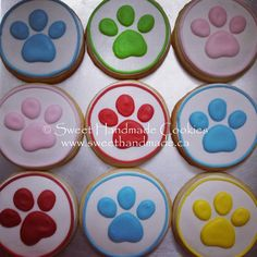Paw Patrol cookies for a sweet boy's birthday. #sweethandmadecookies…