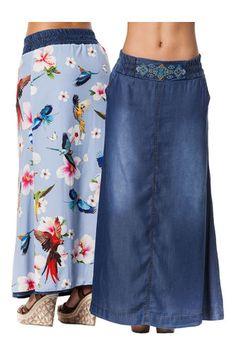 2b6b9919e Las 67 mejores imágenes de Faldas de jean largas