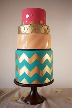 Fancy baby shower cake. Too much?