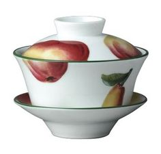 Villandry Fruits Chinese Tea Cup and Saucer