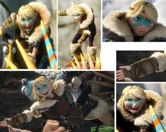 Astrid's poses...