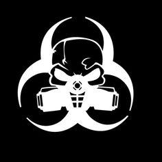 2/x Zombie Response Team Aufkleber Aufkleber Motorrad Helm Boards iPad Laptop 10/cm