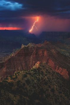 Lightning above Grand Canyon National Park, Arizona