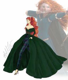 Дизайнерское платье принцессы Мериды