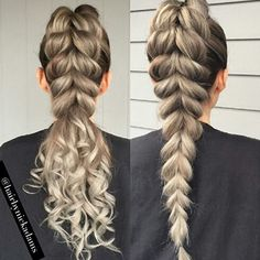 LOVE both! ... by @hairbynickadams #behindthechair #ponytail #braids by behindthechair_com