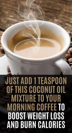 Adding fat to your cup of coffee is not disgusting, as you may imagine. If you add coconut oil to your morning coffee, it will boost your metabolism and help you burn calories.  Combine your coffee with a healthy breakfast, one great combination to kick-start your day. Thus, will energize the body, and significantly improve your health and appearance. Weight Loss Detox, Weight Loss Drinks, Best Weight Loss, Healthy Weight Loss, Weight Gain, How To Lose Weight Fast, Vinegar Weight Loss, Green Coffee Extract, Ga In