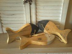 vissen van steigerhout leuk voor aan de tuinmuur of in uw prieel te ...