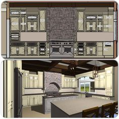 Kitchen design done with chief architect !!