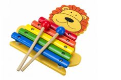 Leo The Lion Xylophone - Cadeaux. Leo Lion, Musical Instruments, Wooden Toys, Princess Peach, Kids Toys, Musicals, Gifts, Fictional Characters, Orange