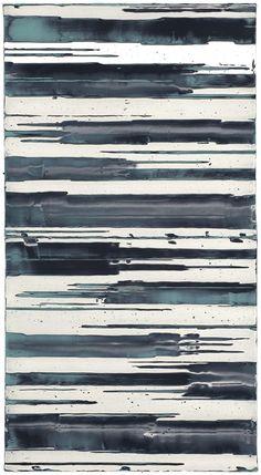 Mark Harrington - Untitled (Turquoise/black/white)