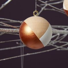 5 Copper Handpainted Christmas Baubles £14.50